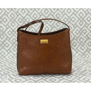 VTG Ego Leather Handbag Faux Ostrich Western Bag